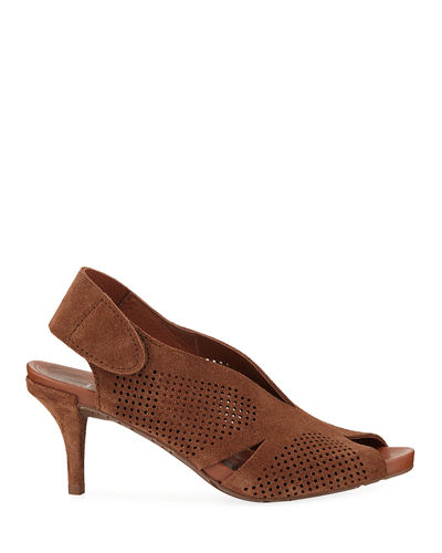 Pedro Garcia Wira Perforated Slingback Sandals