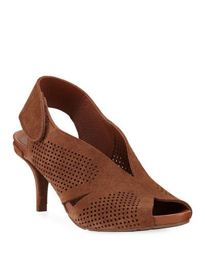 Wira Perforated Slingback Sandals