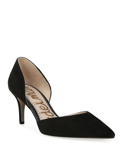 Jaina Suede Point-Toe Pumps