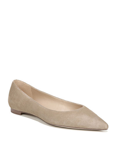 Sally Pointed-Toe Suede Flats