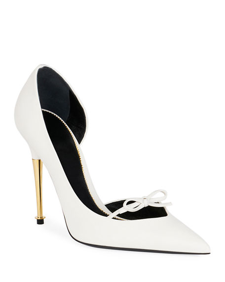 TOM FORD Leather Pumps with Bow