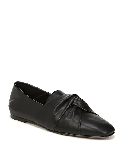 Haddie Knotted Leather Loafers