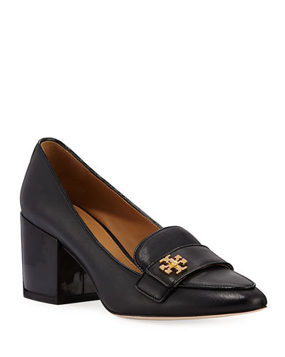 Kira Block-Heel Loafer Pumps