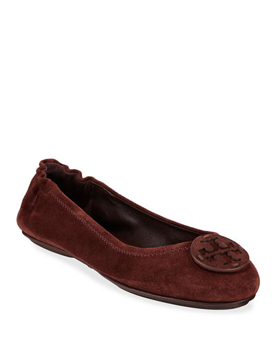 Mini Travel Suede Ballet Flats
