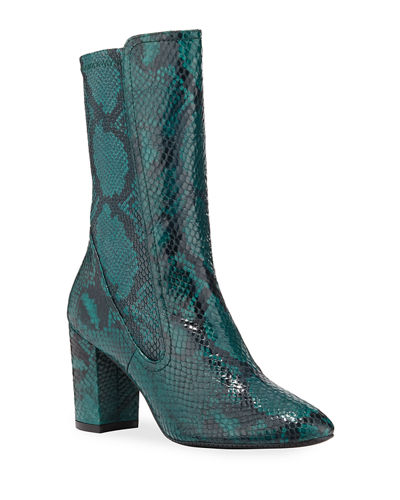 Fifer Python-Embossed Stretch Booties