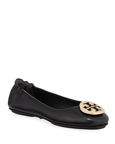 Minnie Travel Leather Ballet Flats