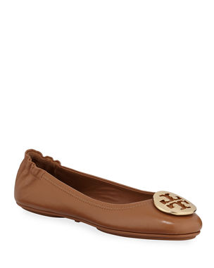 76559669448ae3 Tory Burch Minnie Travel Leather Ballet Flats