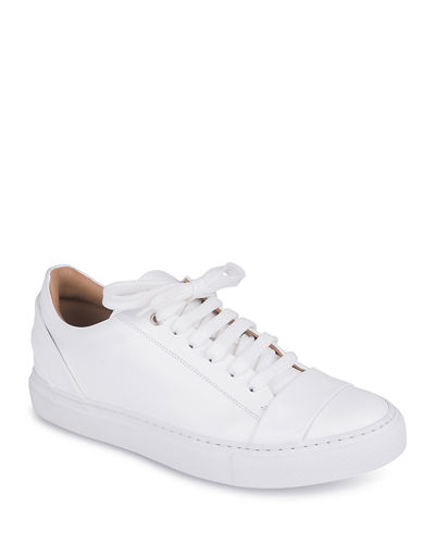 Una Leather Lace-Up Sneakers