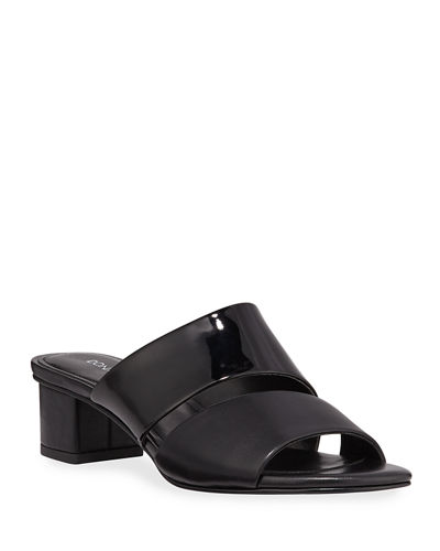 Margret Two-Band Leather Slide Sandals