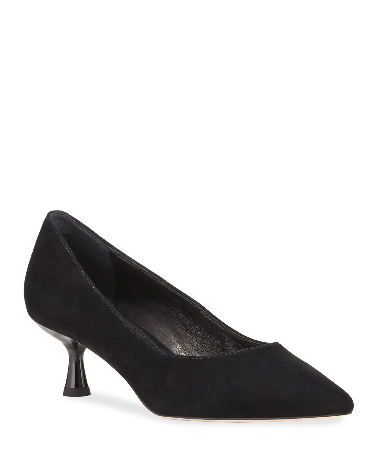 Bon Suede Kitten-Heel Pumps