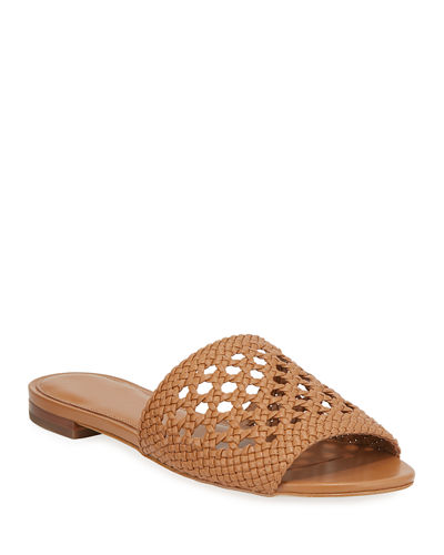 Augustine Flat Woven Slide Sandals