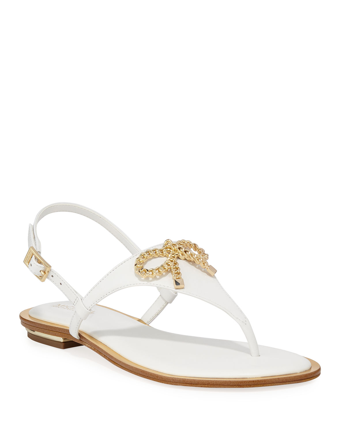 Posey Flat Metallic Bow Sandals by Michael Michael Kors