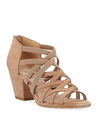 Fara Stretch Suede Sandals