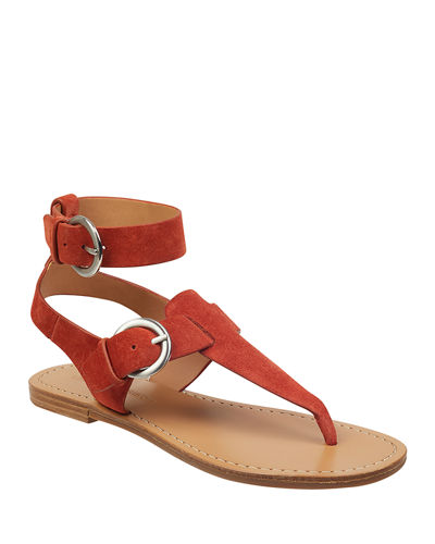 Caitlyn Suede Buckle Sandals