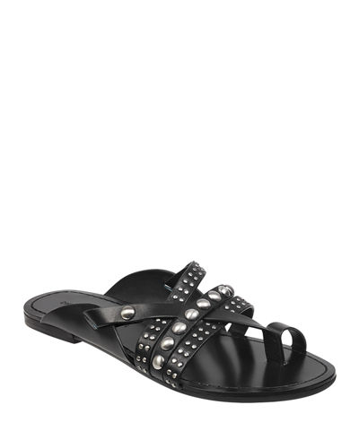 Cass Studded Leather Sandals