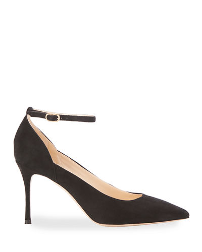 Marion Parke Muse Suede Pointed Pumps