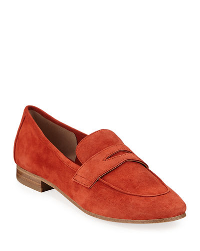 Chang Suede Penny Loafers