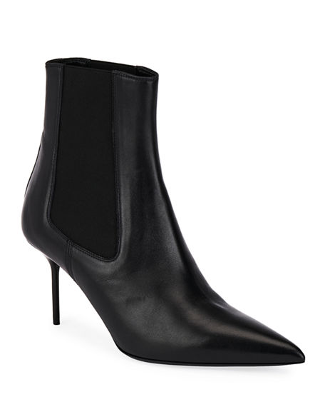 TOM FORD Two-Tone Gored Leather Booties