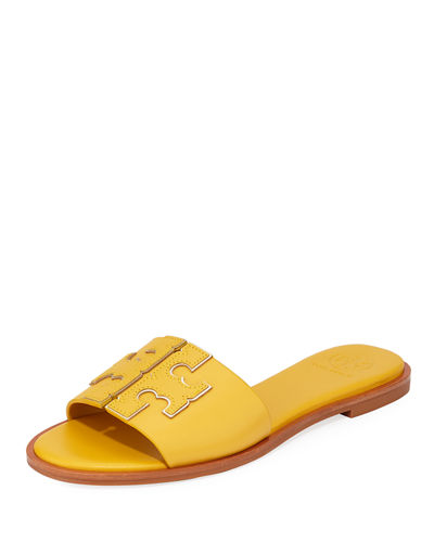 Ines Leather Slide Sandals