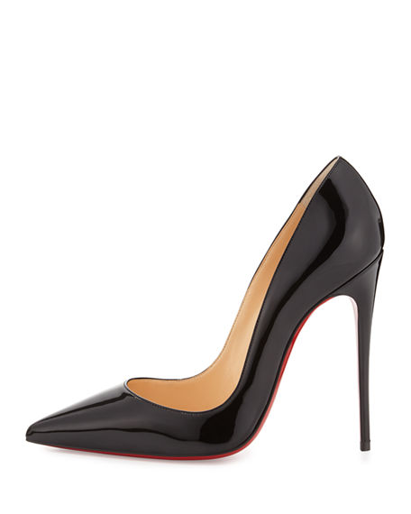 Image 2 of 4: Christian Louboutin So Kate Patent Pointed-Toe Red Sole Pump