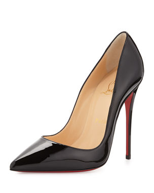 07967a0367217 Christian Louboutin So Kate Patent Pointed-Toe Red Sole Pump