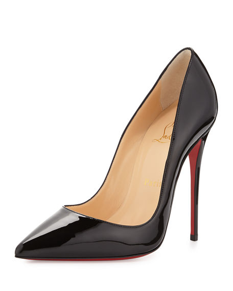 Image 1 of 4: Christian Louboutin So Kate Patent Pointed-Toe Red Sole Pump