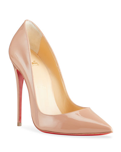 So Kate Patent Pointed-Toe Red Sole Pump
