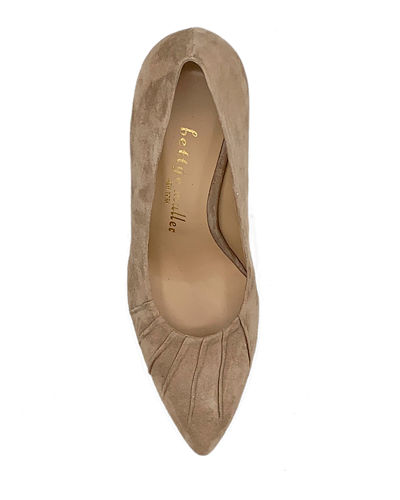 Bettye Muller Concept Ruched Suede Pumps
