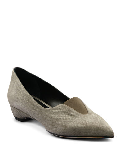 Pointed Low-Wedge Loafers