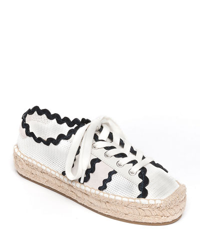 Vale Scalloped Mesh Sneakers