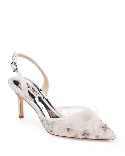 Angeline Embellished Slingback Pumps
