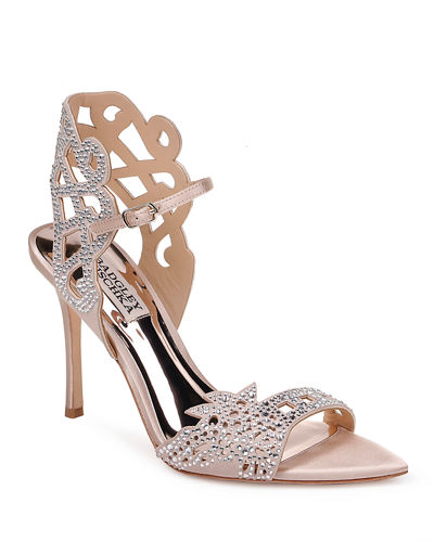 Amery Laser-Cut Beaded Sandals