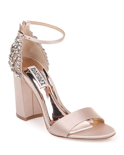 Ainsley Crystal Embellished Satin Sandals