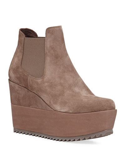 Franny Wedge Platform Booties