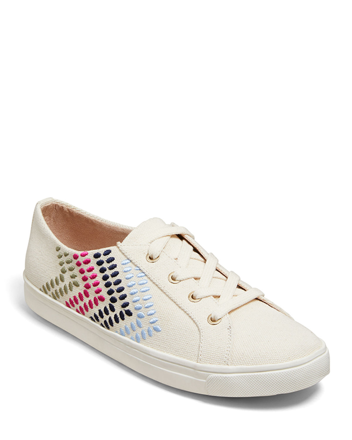 Luna Canvas Lace-Up Sneakers