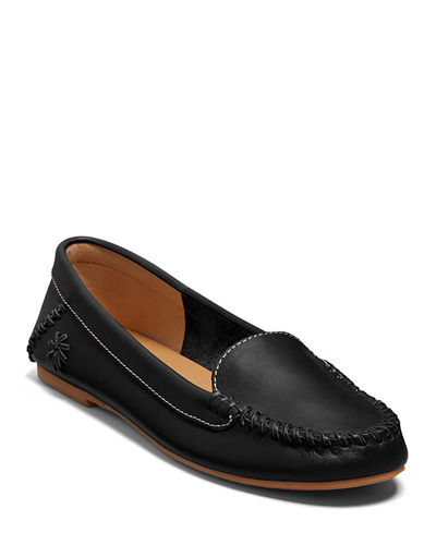Millie Leather Moccasin Loafers