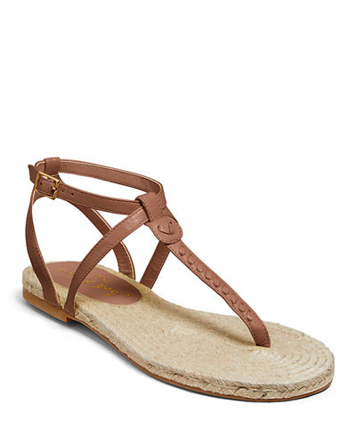 Evie Flat Leather Sandals