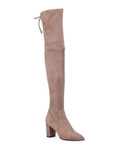 Lesley Suede Over-The-Knee Boots