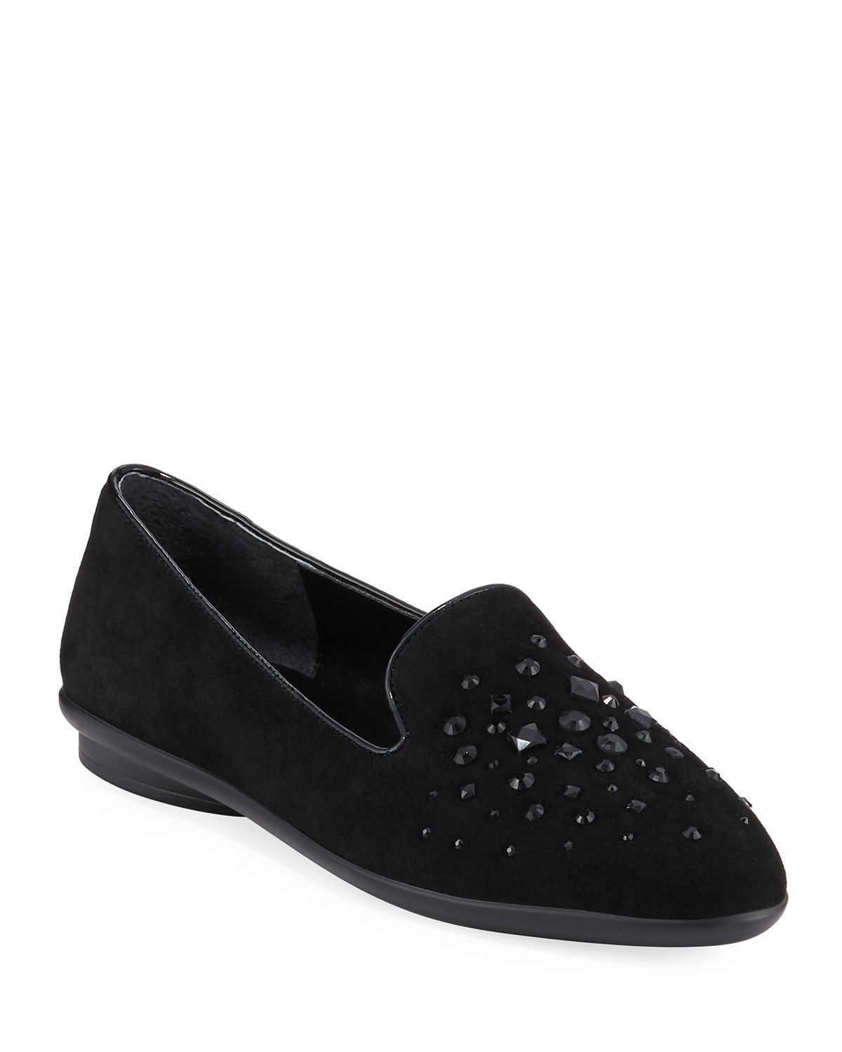 Markesp Beaded Suede Flats