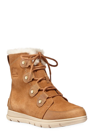 Sorel Explorer Lace-Up Waterproof Suede Boots
