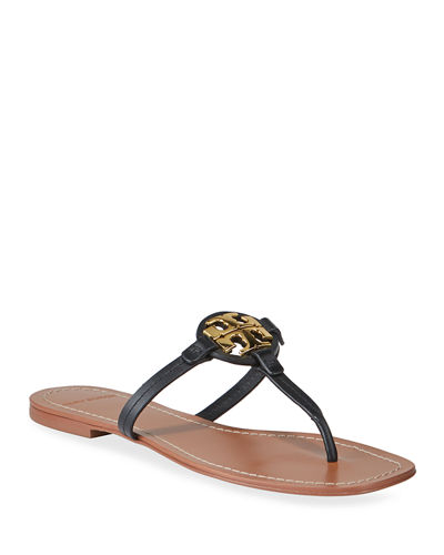 Miller Logo Leather Thong Sandals