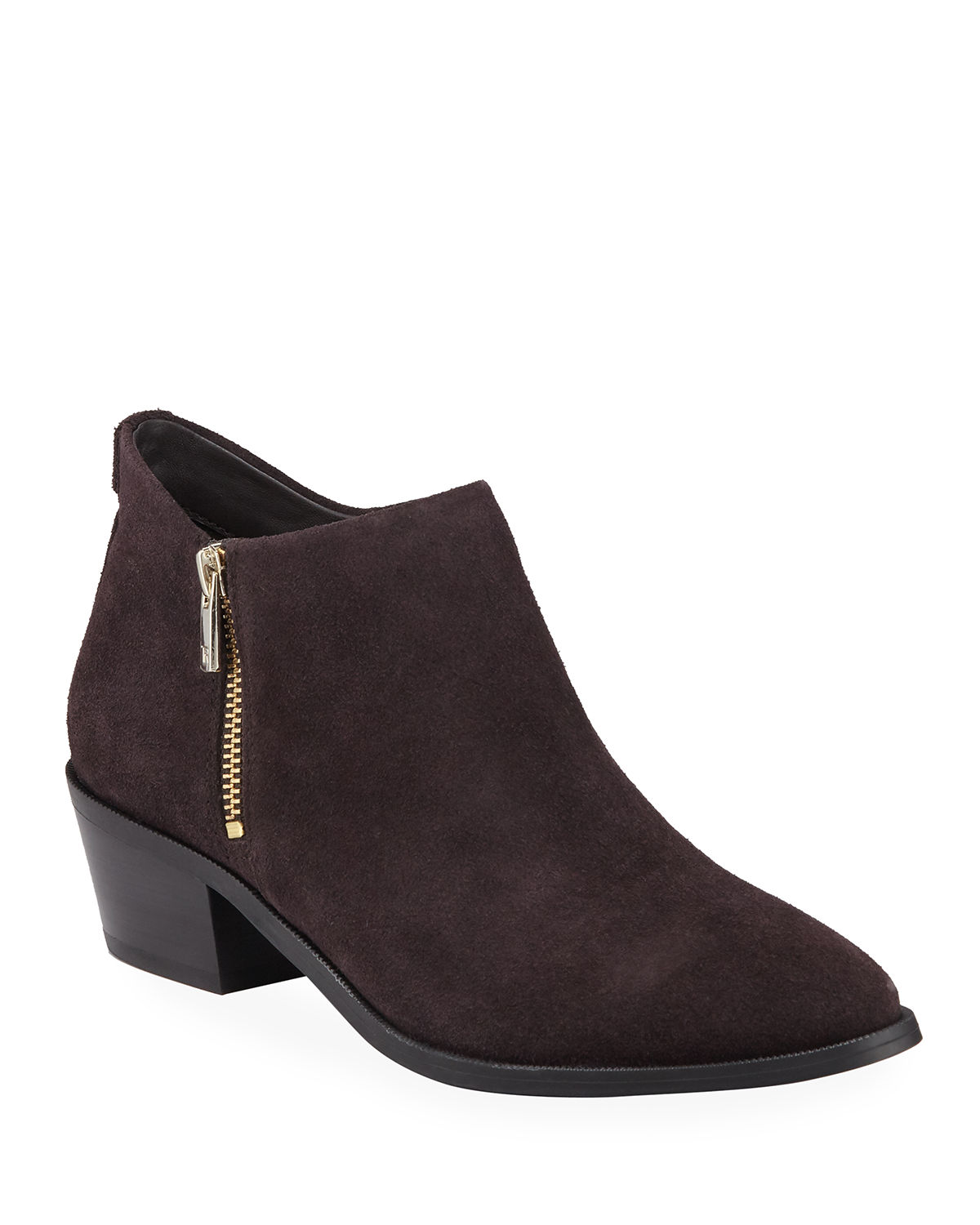 Sara Side-Zip Suede Booties