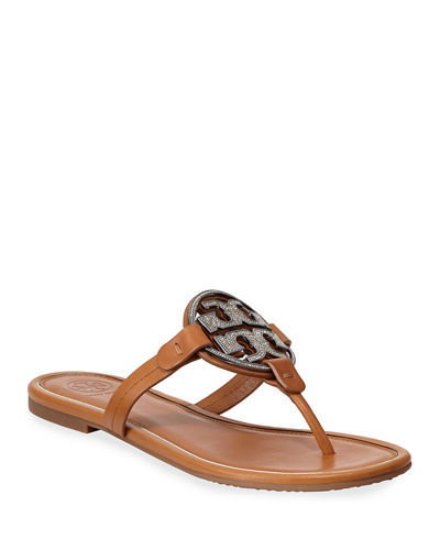 Miller Flat Crystal Logo Slide Sandals