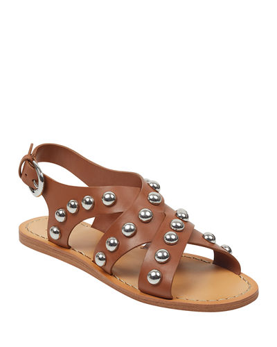 Prancer Studded Flat Sandals