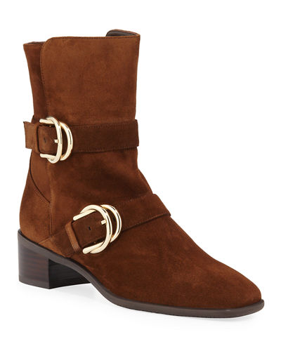 Britain Suede Moto Booties