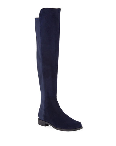 5050 Suede & Gabardine Over-the-Knee Boots