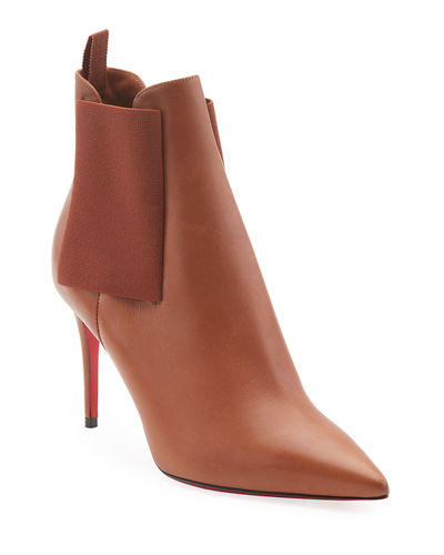 Carnababy Leather Red Sole Booties