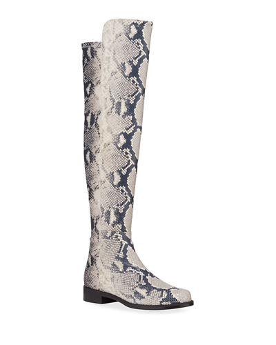 5050 Python-Printed Leather Boots