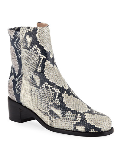 Easyon Reserve Python-Print Leather Booties