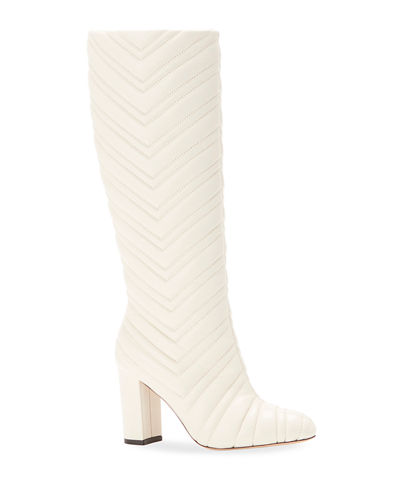Dion Quilted Napa Knee Boots